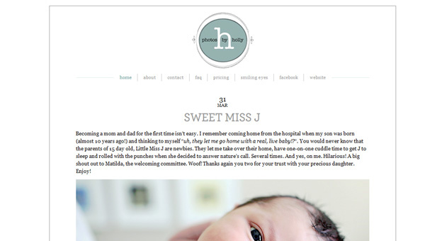 New blog for Holly, using a new theme!