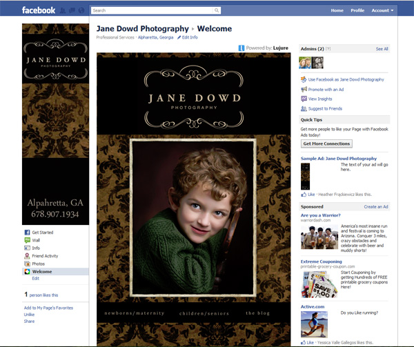 Jane Dowd Photography – new facebook landing page!